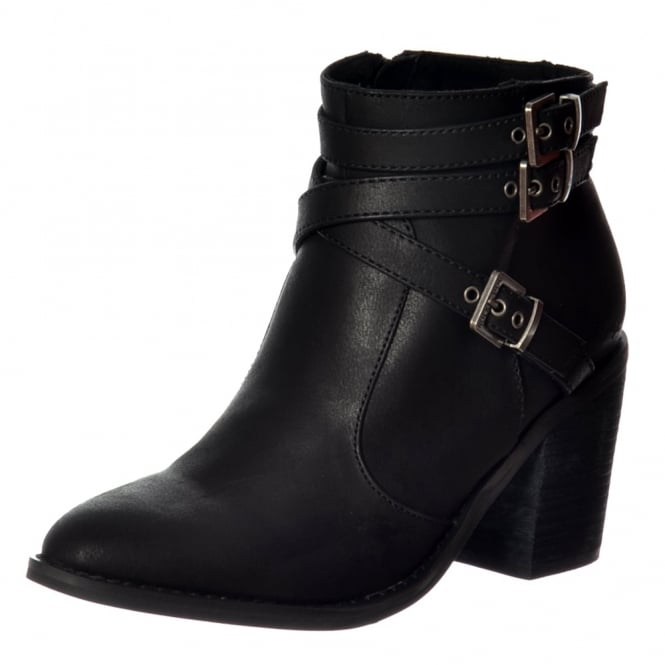 Rocket Dog Deon Buckles And Straps Ankle Boot