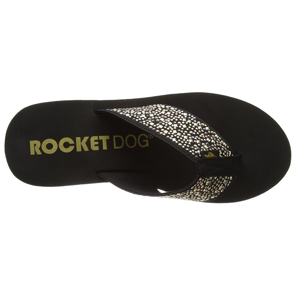 e020a424df22 Rocket Dog Diver Eclipse Sparkly Wedge Platform Flip Flops - WOMENS ...