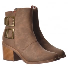 Dundee Ankle Boots - Double Buckle - Black, Grey, Nutmeg, Brown