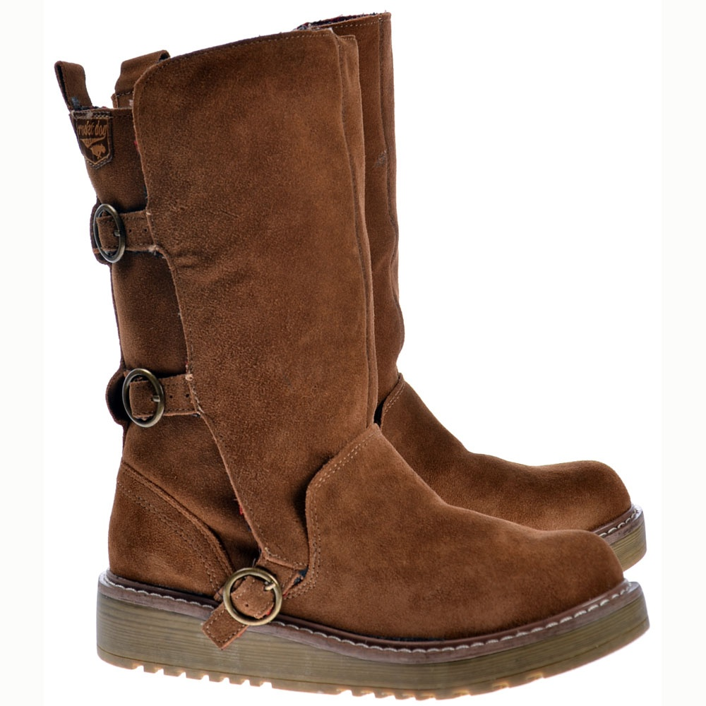 rocket jed biker boots chestnut brown suede womens