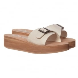 Kaplan Slip On Mule - White