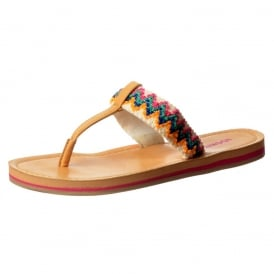 Playa - Braided Patterned Flat Flip Flop