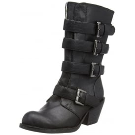 Rollin Four Buckle Biker Boot - Porter Grey / Black / Tan