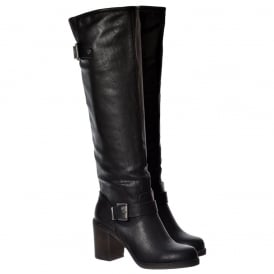 Shayna Tall Knee High Wide Calf Boot - Black Brown