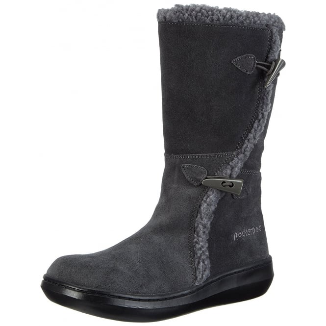 Rocket Dog Slope Classic Calf Fur Winter Boots - Cow Suede - Shadow Grey