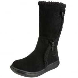 Slope Suede Classic Calf Fur Winter Boots - Cow Suede