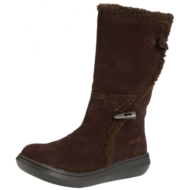 Rocket Dog Slope Suede Classic Calf Fur Winter Boots - Cow Suede