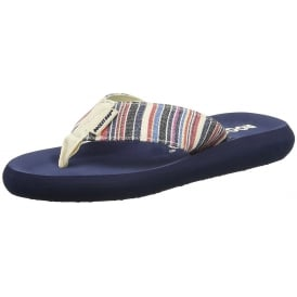 Spotlight Roads Multi Stripe Flat Flip Flop