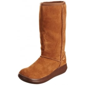 Sugar Daddy Classic Calf High Winter Boot - Cow Suede