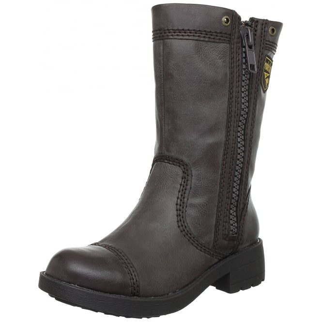 Rocket Dog Tavern Ankle Biker Boot - Espresso, Black