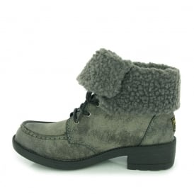 Teagan Warm Fleece Lined Lace Up Ankle Boot