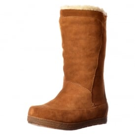 Terri Calf High Suede Winter Boot - Warm Fleeced Lining