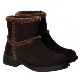 Thurston Faux Fur Lined Winter Ankle Boot - Chocolate
