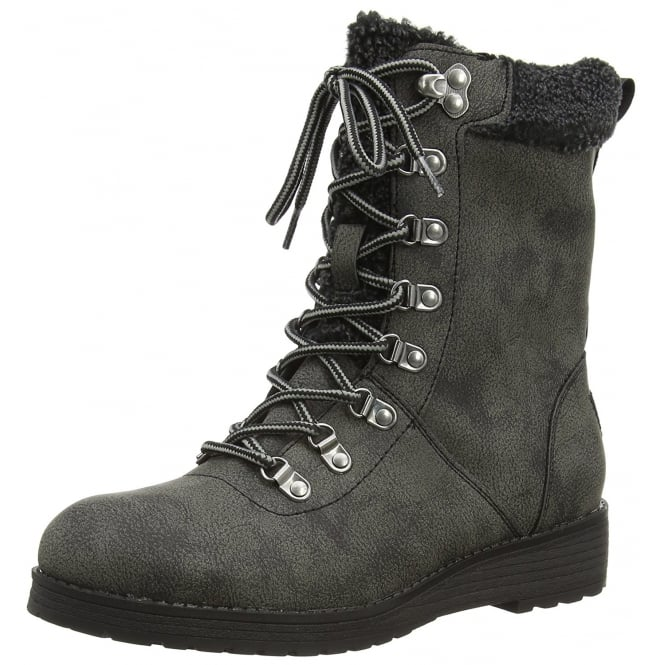 Rocket Dog Weekender Military Lace Up Fleece Lined Ankle Boots