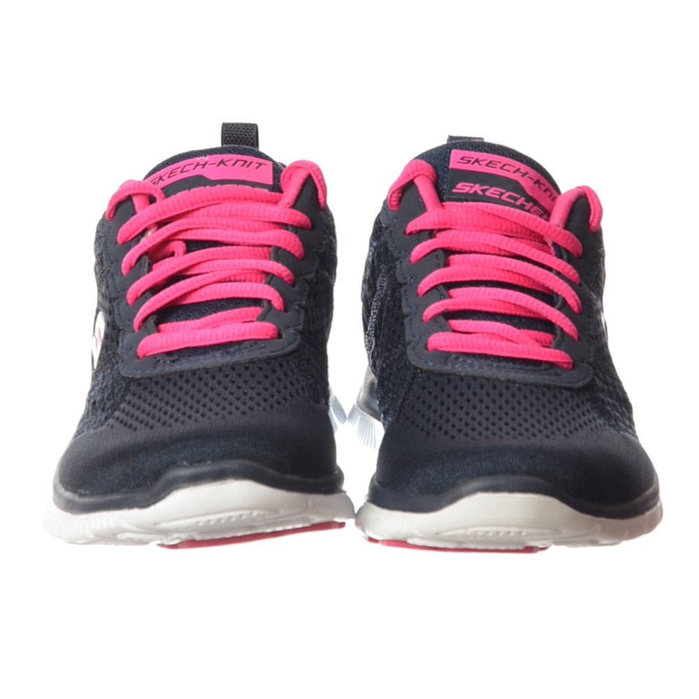 e17b5ee5f777 Obvious Choice Memory Foam Flex Appeal Lifestyle Trainers - Navy   Pink