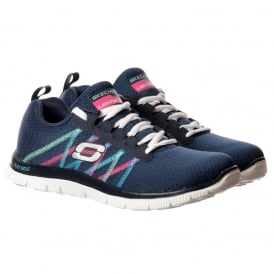 Something Fun Memory Foam Flex Appeal Lifestyle Trainers - Navy / Multi