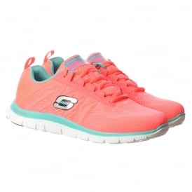 Sweet Spot Memory Foam Flex Appeal Lifestyle Trainers - Hot Pink / Turquoise