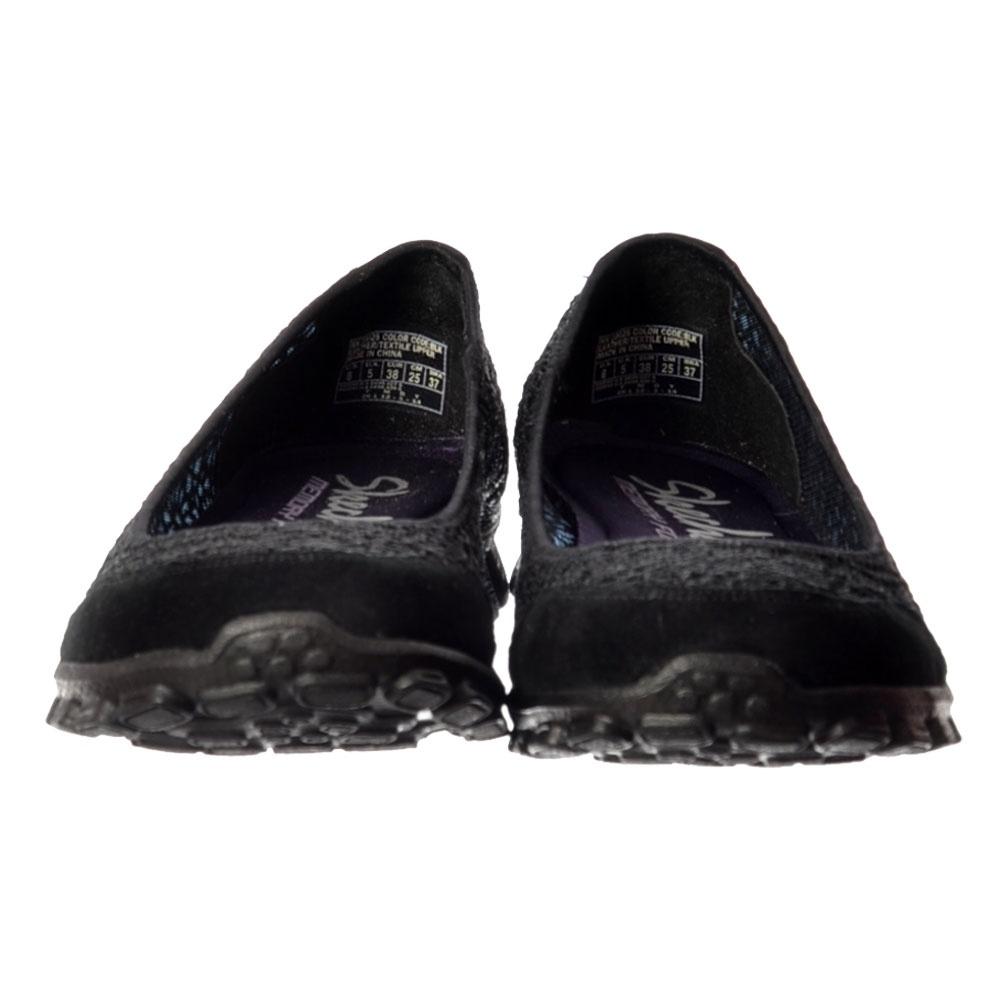 Skechers Sweetpea Memory Foam EZ Flex 2 Cushioned Ballet Flats Black