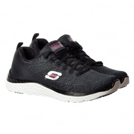 Valeris Relaxed Fit Air Cooled Memory Foam Trainers - Black / White