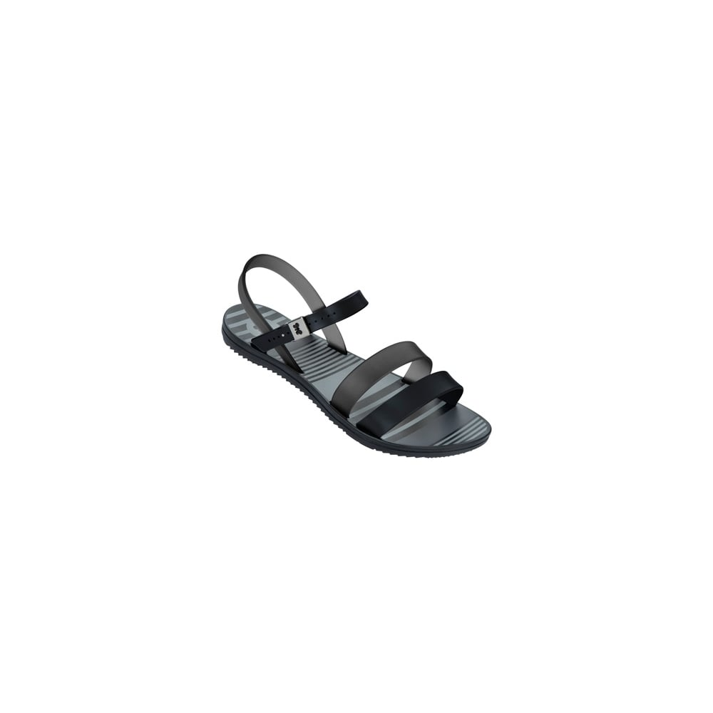 4de2688a78968 Zaxy Urban Flat Jellie Strappy Sandal - Black   Smoke - WOMENS from  Onlineshoe UK