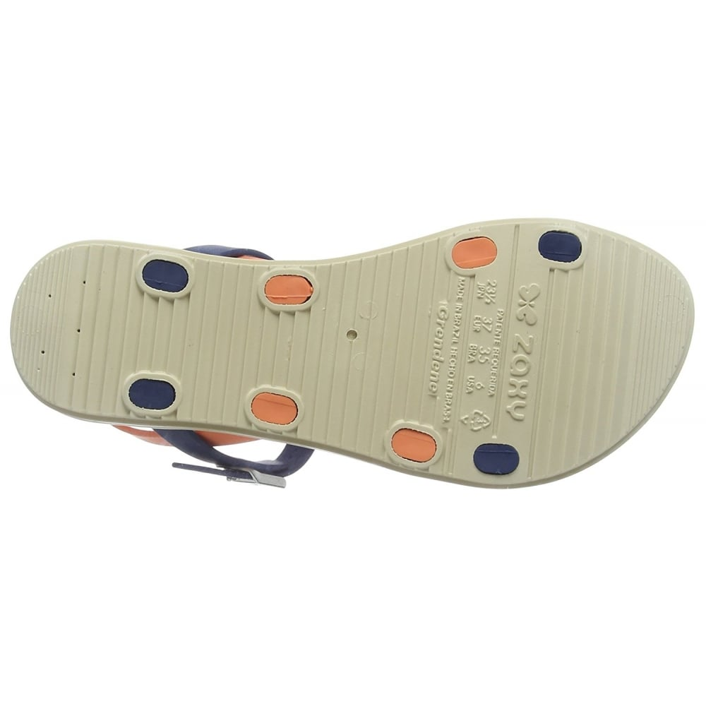 f2a17d5eaa133 Zaxy Urban Flat Jellie Strappy Sandal - Navy   Coral - WOMENS from ...
